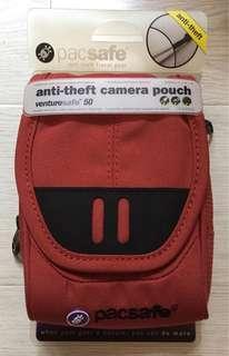 全新 pacsafe 防盜相機袋 數碼包 旅行腰包(可放手提電話 相機 護照等)