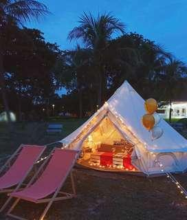Birthday tent booking  for 2 Pax with picnic set.Most romantic surprise give to most loved one!