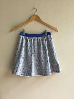 Blue Patterned Skirt