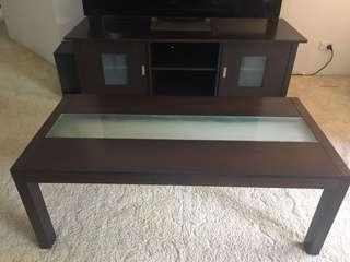 Tv unit and coffee table