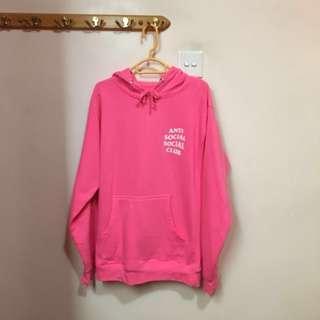 ASSC Anti social social club hoodie pink