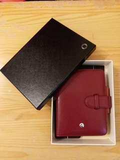 MONTBLANC Organizer - Day Planner, Red Burgundy Leather (not used)