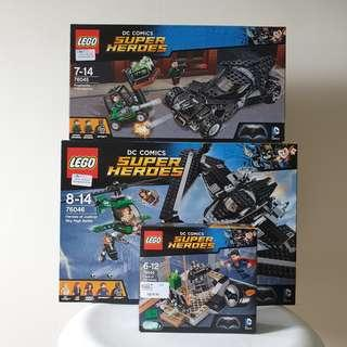 Lego Batman vs Superman Set 76044, 76045, 76046
