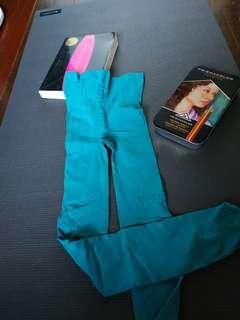 Blue green stockings