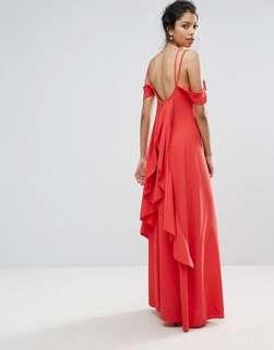 BNWT Boohoo Ruffles Back Maxi Dress UK8