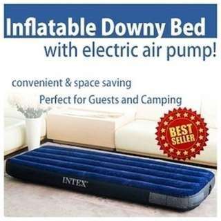 INTEX AIRBED Classic in 5 sizes+Electric pump(UK plug), Inflatable Mattress Air bed