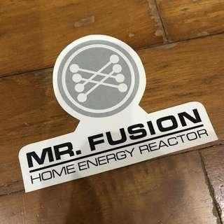 Pop Culture Luggage Laptop Misc Sticker Back To The Future BTTF Mr Fusion Home Energy Reactor Delorean Logo