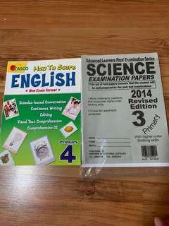 English & Science Assessment Books