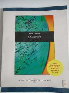 Management 4th Edition by Kinicki and Williams