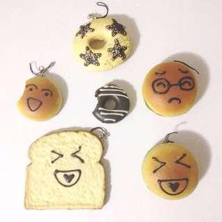 Donut, Bread, Hamburger Squishies