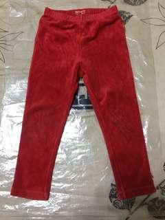 1/2紅長褲100cm