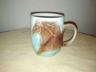 Vintage ceramic Horse 3D mug, 300ml