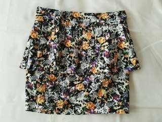 TOMATO Floral Peplum Pencil Skirt, Thick Fabric