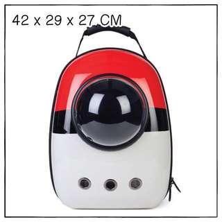 """Pokeball"" Astronaut Capsule Cat Bubble Backpack Carrier"