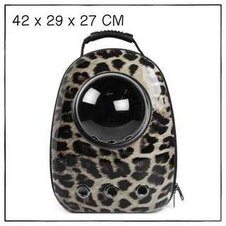 """Leopard"" Astronaut Capsule Cat Bubble Backpack Carrier"