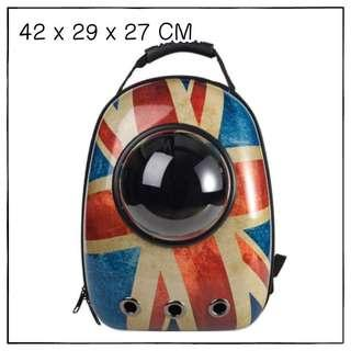 """Unionjack"" Astronaut Capsule Cat Bubble Backpack Carrier"