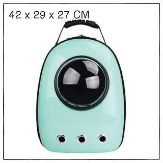 """Cyan"" Astronaut Capsule Cat Bubble Backpack Carrier"