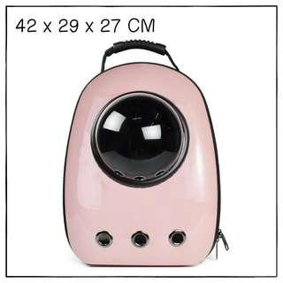 """Babypink"" Astronaut Capsule Cat Bubble Backpack Carrier"
