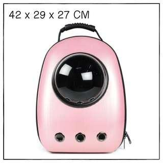 """Megapink"" Astronaut Capsule Cat Bubble Backpack Carrier"