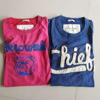 Abercrombie tee a&f small