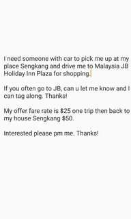 Looking for driver to JB.