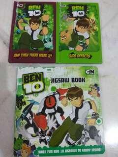 Set of Ben 10 story & jigsaw books