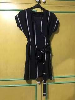 Stripes wrap around dress