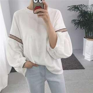 #SINGLES1111 Ready Stock Simple Embroidery Oversize Tee