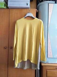 泥黃長袖衫