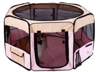 《原買1800元,僅使用一次,便宜出售》透氣八角多功能寵物折疊帳篷(附收納袋)