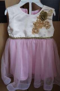 Pink Tutu Baby Dress for Party (FREE ONG)