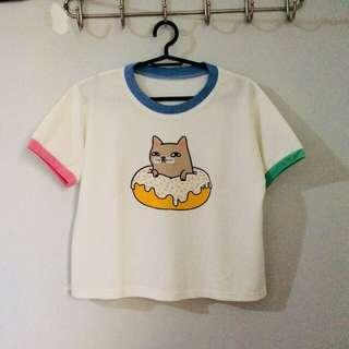 jukaykay cat donut crop top