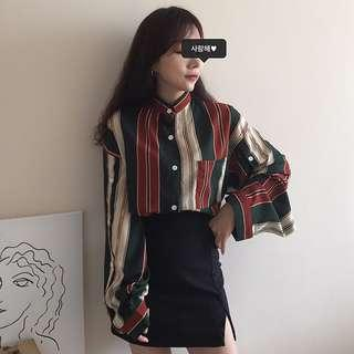#SINGLES1111 Ready stock Korean Chic Style BF Oversize Blouse