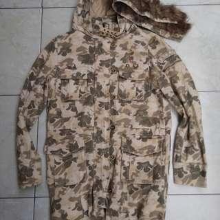 Jaket parka army roxy