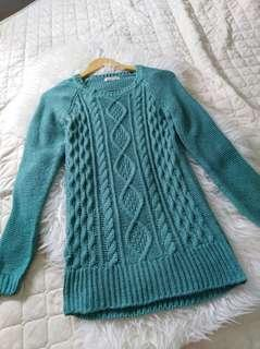 Turquise Knit Top