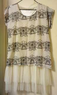 女裝裙新淨少着  胸闊36吋…長度35吋~裏面有白色底裙~15元~藍田地鐵站交收