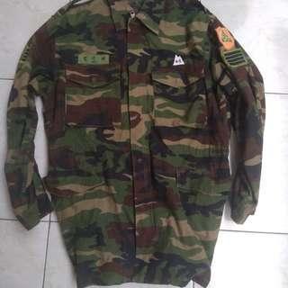 Jaket loreng korean army