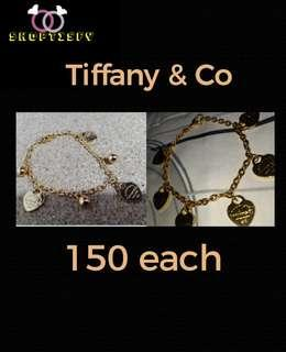 150 each -Tiffany & co -stainless steel gold