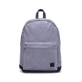 Casual Grey Canvas Backpack