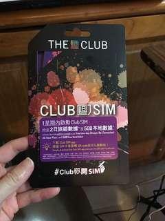 The Club Sim 2日旅遊數據 5GB本地數據