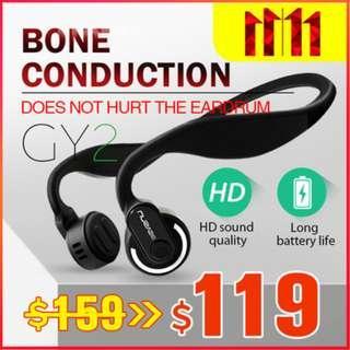 NEW!! BEASUN★GY2 Bone Conduction Bluetooth Wireless Stereo Headphones Headset Earpiece