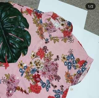 Pink Floral Polo