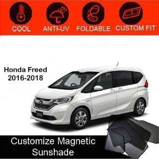 Custom Fit Magnetic Car Sunshade 6 pieces-Honda-Freed-2016-2018