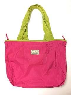 玫紅色 多色 環保購物袋 可索繩 可摺疊 45x34cm