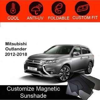 Custom Fit Magnetic Car Sunshade 6 pieces - Mitsubishi-Outlander-2012 - 2018
