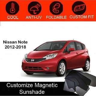Custom Fit Magnetic Car Sunshade 6 pieces - Nissan-Note 2012-2018