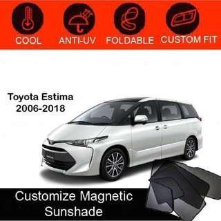 Custom Fit Magnetic Car Sunshade 6 pieces - Toyota Estima 2006-2018