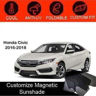Custom Fit Magnetic Car Sunshade 4 pieces- Honda Civic 2016-2018