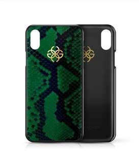 Green Python I Phone X case