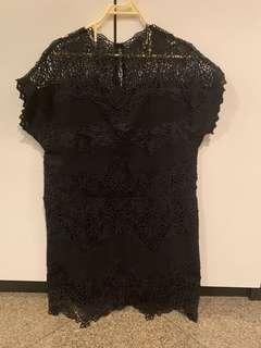 BNWOT BLUSH INC BLACK DRESS